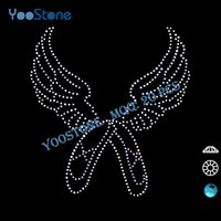 best wing design - Best Selling Rhinestones Heat Transfer Design Iron Ballerina Wings Rhinestone Transfer
