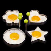 Wholesale New Stainless Steel Fried Egg Pancake Mold Kitchen Cooking Tools Love Shaped Cook Fried Egg Mold