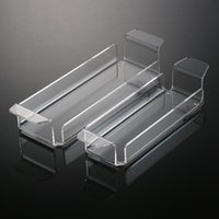 acrylic storage drawers - Hot SAle Plastic Spice Rack New High Quality Clear Acrylic Storage Trays For Condiment Bottles Two Size plastic drawer tool storage