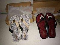 Wholesale Drop Shipping Yeezy Slippers yeezy Flip Flops massage health care slippers Yeezy Sandals Triple Black Womens Mens Sandals yeezy slippers