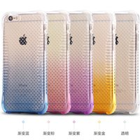 air patterns - Gradient Color Waist Pattern Air Cushion Explosion Proof Ultra Thin Soft TPU Cover Case For Apple iPhone S Plus inch MOQ