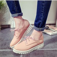 Cheap Plus Size 34-43 Woman European Style Round Toe Flat With Leisure Shoes Sexy Casual Woman Lace Up Charming Show Dress Shoes
