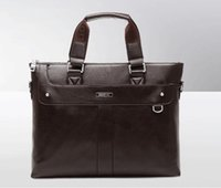 leather purse handles - Genuine Leather handbags Designer handbag High Quality business shoulder leisure portable Briefcase laptop purse Men s bag