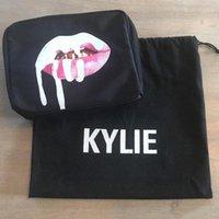 Wholesale Kylie Jenner Make Up Bag Color Black Birthday Collection Makeup Bag Cosmetic Bag Kylie Lip Kit Bag