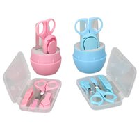 Wholesale Lovely Baby Nail Care Set Practical Clipper Trimmer Baby Scissors Nail Shear Blue Pink Convenient Safety Baby Nail Clipper set