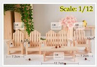fairy furniture - 1 dollhouse miniature handmade adirondeck chair yard Chairs Fairy Garden furniture Table chair bench