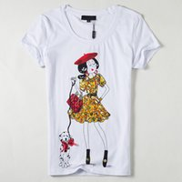 Wholesale Femme T shirt Woman Clothes T shirt Women Tops Tees Printed LipsCartoon Tshirt Vetement Poleras De Mujer Camisetas Femininas