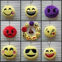 Wholesale New style QQ Emoji toys for Kids Emoji Keychains Mixed Emoji Keyrings Bag pendant cm