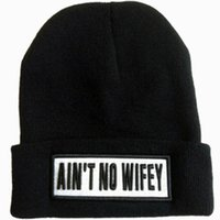 aint no wifey beanie - Aint No Wifey black Gray Red embroidery Sport Beanie Knitted Cap and hats for Women and Men Thicken Ladies Winter Hat MZ0506