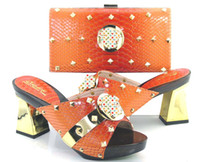 b v bag - vivilace brand shoes ORANGE v Matching italian shoes and bag set with high quality open toe heels sandal african shoes and bag