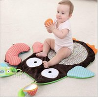 baby crawl mat - Baby Owl Crawling Pad Kids Game Crawling Blankets Newborn Cartoon Animal Prone Crawling Pad Owl Climbing Blankets Carpet Playing Mat B805