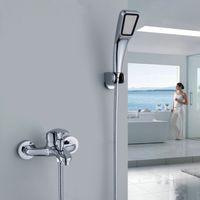 bath diverter - Bathroom Faucets with Diverter Bath Tub Mixer Tap Faucet With Hand Shower Head Shower Faucet