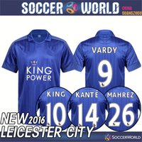 Wholesale Leicester City shirts Leicester City shirts Top quality VARDY MAHREZ DRINKWATER KANTE KING shirts
