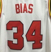 Wholesale Len bias diagonal Maryland Terps university basketball throwback Len trend custom embroidery College Men T shirt vest
