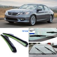 accord wiper blades - 2pcs quot quot front windscreen windshield wiper blades Soft Rubber WindShield Wiper Blade For Honda Accord