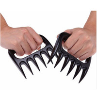 Wholesale Plastic Bear Paws Claws Meat Handler Fork Pull Shred Pork Meat BBQ Roasting Shredder Tool Kitchen Tools