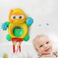 baby shower s - Baby Shower Bath Toys Environmental Full Set Kid s Basketball Bathroom Animal Toy Little Turtle Four Cups Hot Sale