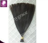 Wholesale 100 human hair extensions Brazilian human hair bulk silky straight hair bundles color b sunnygrace