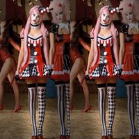 best circus costumes - Best Seller Sexy Costume Woman Halloween Deguisement Adultes Circus Cosplay Clown Costume Sexy Dance Cosplay Costumes CE212