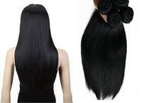 Wholesale Brazilian Hair lUnprocessed Human Hair Weaves Peruvian Malaysian Indian Cambodian Hair Extensions Straight Bundles A Best Quality
