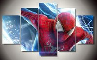 amazing oil paintings - 5 Panel unframed Printed the amazing spider man Group Painting children s room decor print poster picture canvas oil paintings