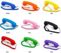 Wholesale NEW mm Retro POP Cell Phone Handset Handsets For iPhone G S S smart phone and ipad tablets