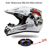 Wholesale 2016New Design Adult Motorcycle Off Road Helmet Young Downhill MTB Crossing Helmet Motocross Helmet FOR Kids Free Goggle As Gift