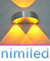 venda por atacado bedside lamp-nimi969 6W simples moderna LED 3W Semicircunferência alumínio lâmpada de cabeceira lâmpadas decorativas fundo Sala Luzes da parede do corredor Escadas Hotéis