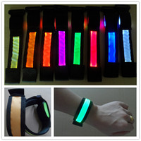 Wholesale LED arm band New Color LED light Wristband Luminous Bracelets Nocturnal Band Running Security Arm band Fluorescence Switch Control
