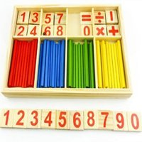 Wholesale Christmas Gift Baby Toy Wooden Blocks Montessori Educational Toys Mathematical Intelligence Stick Building Blocks Birthday gift