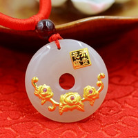 asian weights - Set auger Hetian white jade and K gold and diamond necklace pendant weight g size cm cm cm Sweater chain long cm