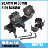 Wholesale 25 mm mm Double Scope Rings Dual Ring Cantilever HeavyDuty Scope Mount Quick Release Picatinny Weaver Rail Fit mm rail