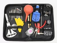 Wholesale 27PCS Repair Tool Kit Set Watches with Black Case Package Watchmaker Opener Remover Retail Watches Accessories