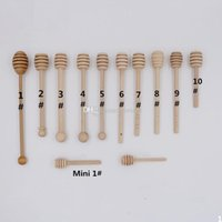 Wholesale 9 different style MINI Wooden Honey Dippers Wedding Favors free DHL or UPS