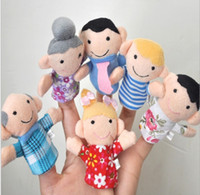 Wholesale Baby Toy Cartoon Finger Puppet Finger Toy Finger Doll Animal Doll Baby Dolls for Kid s Fairy Tale Family Toys
