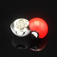 alloy metal parts - Latest Pokeball Grinder Poke Grinders Herb Grinders Metal Zinc Alloy Plastic Metal Grinders Parts Grinders with Display Box DHL Free