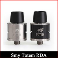 bear totem - Original SMY Totem Black stainless steel RDA Tank Totem with Tank Rebuildable atomizer totem with Super Wide Bore freeshipping