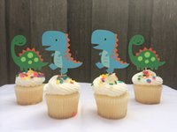 baby themed food - cute Dinosaur themed Cupcake Toppers wedding Boys Birthdays baby shower Party treat food picks photo booth props