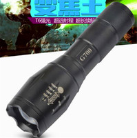 Wholesale G700 E17 CREE XML T6 Lumens High Power LED Torches Zoomable LED Flashlights torch light for xAAA or x18650 battery