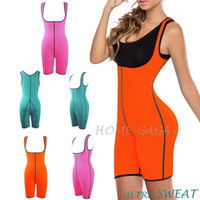 slimming sauna suits - Palicy Women Ultra Sweat Gym Fitness Shapers Thermal Bodysuit Full Body Shaper Sauna Suit Slimming Waist Trainer Corsets On Sale