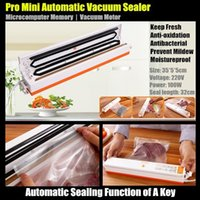 automatic box sealer - 100W Portable Pro Mini Handheld Food Automatic Sealing Machine One button Vacuum Sealer for Seal Pack OPP Plastic Bag Retial Box
