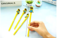 Wholesale Minions Despiable Me Ballpoint Pens Cartoon Cute Stationery Gel Pen Papeleria Student Office Prize Children Gift for Christmas Dropship