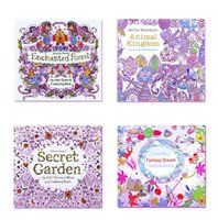 Wholesale Mini adult Coloring Books Secret Garden Animal Kingdom Fantasy Dream Enchanted Forest For Kids Adult Painting Colouring Books