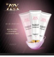 Wholesale Z X Silk protein facial cleanser deep clean pores dirt remover professional skin care factory direct DHL free
