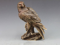 animal bronze sculpture - China Folk Classical Copper Bronze Eagle Bird Incense Burner Sculpture Statue