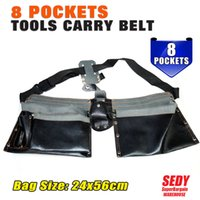 Wholesale SEDY Electrician Pocket Carry Belt Tool Bag Leather Utility Kit Holder leather Bags leather Original Men ml Ganzo