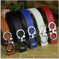 Wholesale 2016 original designer Big buckle belts women high quality womens belts luxury men designer leather belt free epacket shipping