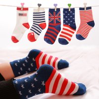algodon cotton - Novelty Baby Socks Cotton USA British Flag Socks Jacquard Socks Baby Girls Socks Meias Calcetines Bebe Algodon Infant Socks Harajuku Socks