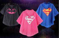 Wholesale New Kids Rain Coat children Raincoat Rainwear Rainsuit Kids Waterproof Superhero Spiderman Batman Raincoat DHL Free Ship