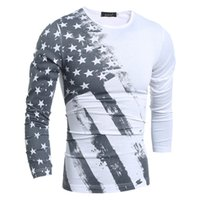 american flag long sleeve - high quality fashion casual t shirt men s USA american flag t shirt fitness long sleeved men s clothing plus size XL fs